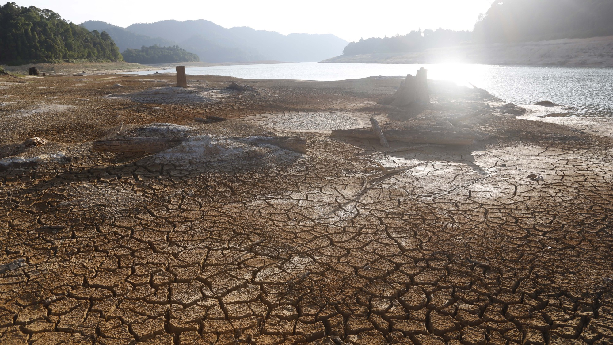 The dry banks of an area near Linggiu Reservoir. Photo: Raj Nadarajan/TODAY