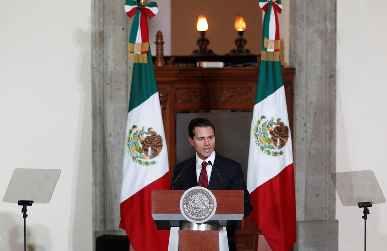 Mexico's president is highly unpopular, so getting tough with Trump over NAFTA may be good politics. Carlos Jasso/Reuters